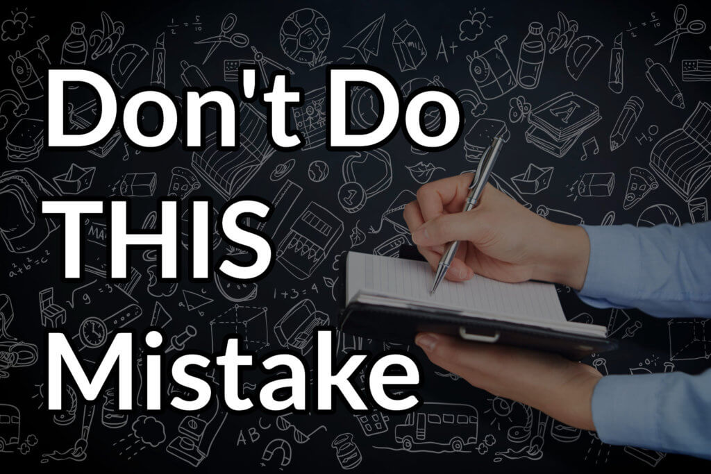 Don't do this mistake